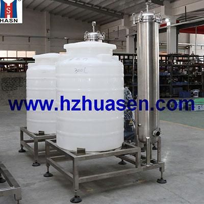 Water treatment backwash